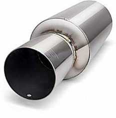 "DC Sports 4"" Diameter Muffler Silencer Universal - SIL3000"