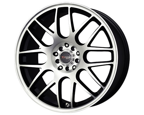 Drag DR-34 17X7.5  5x100/114  45mm Flat Black Machined Face - DT-22819