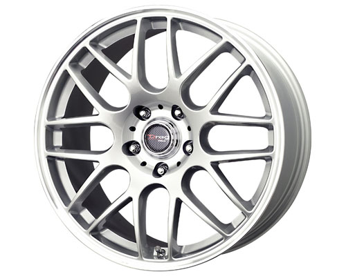 Drag DR-37 17X7.5  5x120  42mm Silver Machined Lip - DT-61440