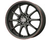 Drag DR-9 17X7  5x100/5x114.3  40mm Flat Black Red Lip