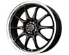 Drag DR-9 17X7  5x100/114  40mm Gloss Black Machined
