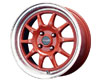 Drag DR-16 16X7  4x100  40mm Red Machined Lip
