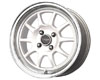 Drag DR-16 16X7  4x100  40mm White Machined Lip