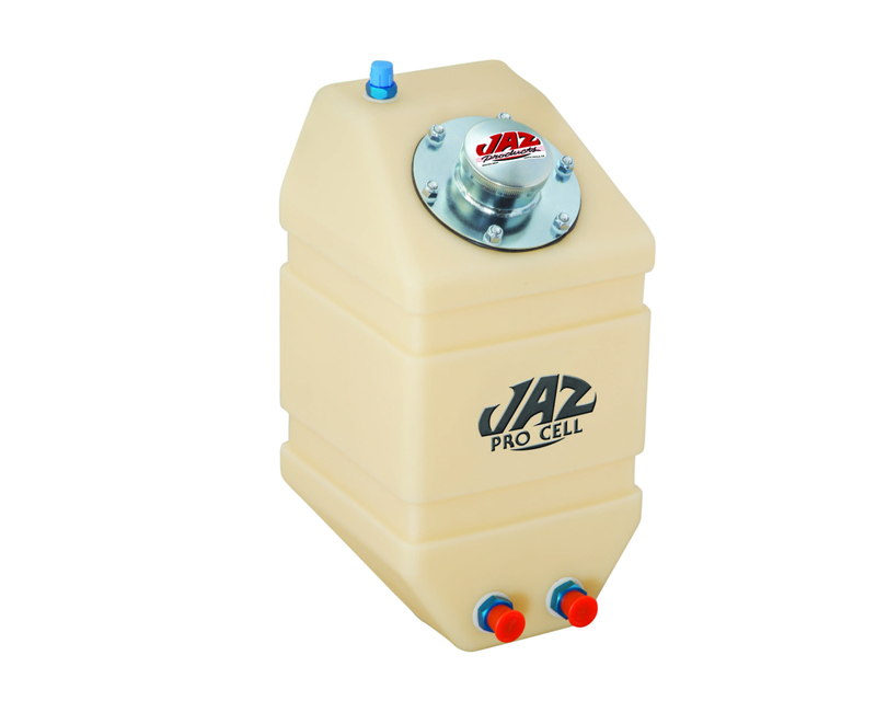 """JAZ  3 gal Natural Drag Vertical Fuel Cell 14""""x14""""x12"""" with -8AN Outlet - 250-303-NF5"""