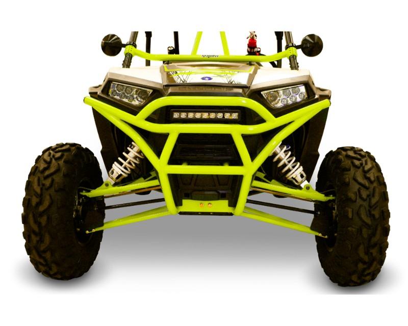 DragonFire RacePace Front Bumper Lime Squeeze Polaris RZR 1000 S 16-18 - 01-1125