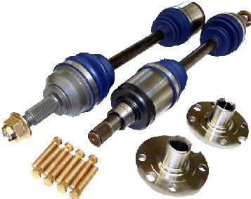 Driveshaft Shop Level 3.9 Axle and Hub Kit 600HP Honda Civic Si EP 01-05 - KS35