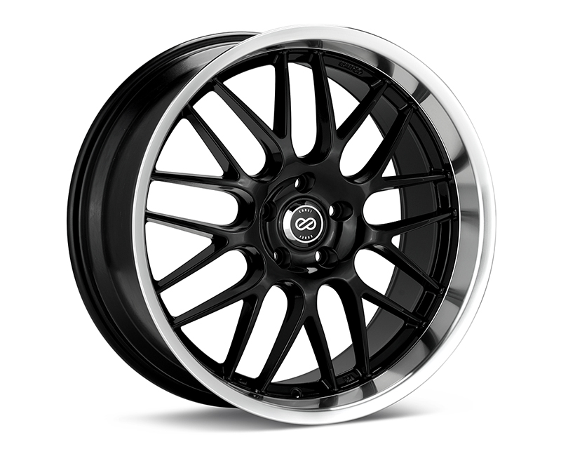 Enkei LUSSO Black with Machined Lip Wheel 18x7.5 5x100 +42mm