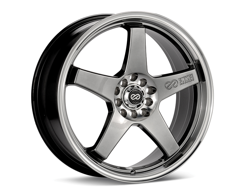 Enkei EV5 Hyper Black Machined Wheel 17x7 4x100 | 4x108 +45mm