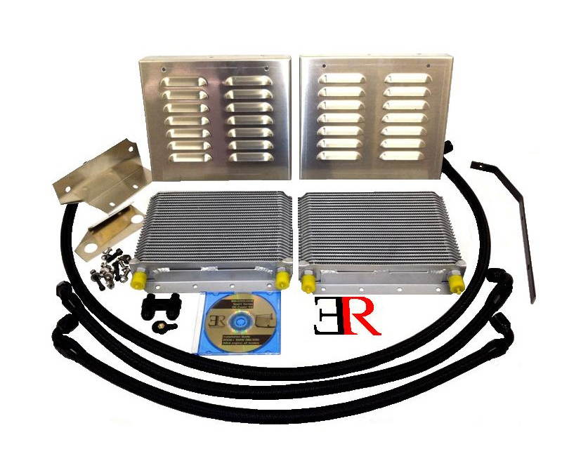 Evolution Racewerks Competition Series Dual Oil Cooler Upgrade Kit BMW 135i 08+