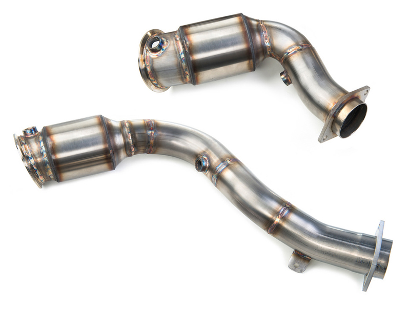 Evolution Racewerks Competition Series 200 CEL Catted Downpipe Brushed Finish BMW M3 S55 15+ RACE USE ONLY