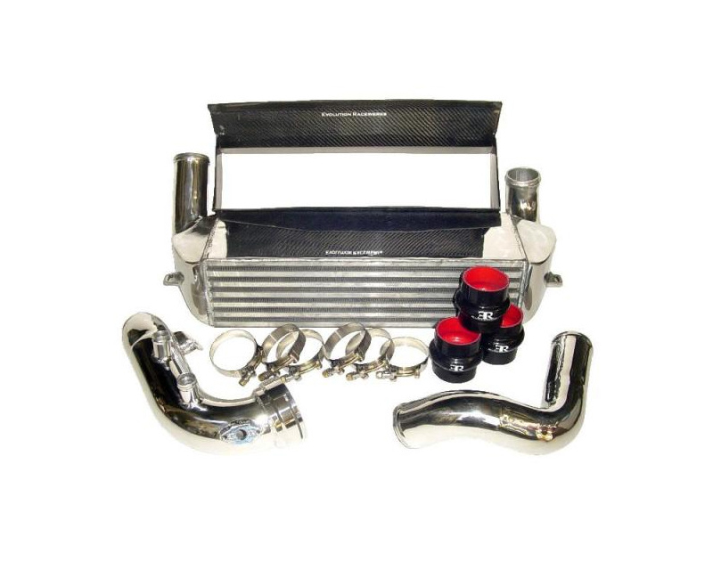 Evolution Racewerks Competition Brushed Finish Full Front Mount Intercooler Kit BMW 135i N54 2008