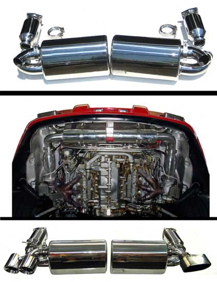 Fabspeed Maxflo Performance Exhaust System with Mild Sport Cats|Tips|Polished Chrome Cabrio|Tiptronic Porsche 997 Turbo 07-09 - FS.POR.997T.MAXMP