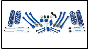 Fabtech 5in Short Arm System with Performance Coil Springs Jeep Wrangler JK 07-08 - K4038