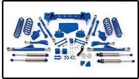 Fabtech 5in Crawler System with Performance Coil Springs Jeep Wrangler JK 07-08 - K4040