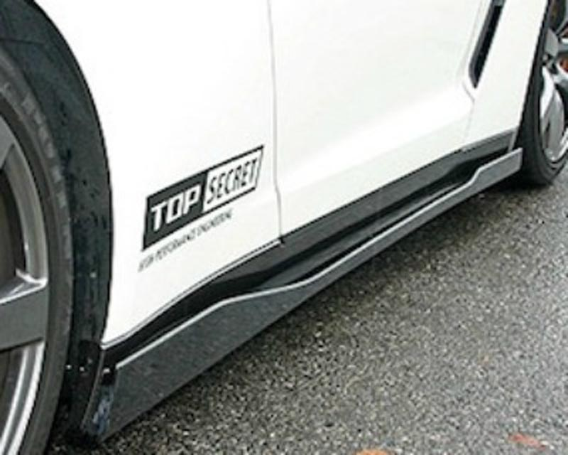 Top Secret Carbon Fiber Side Skirts Nissan GT-R R35 09+