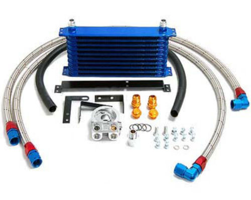 Greddy 10 Row Oil Cooler Kit with Filter Relocation