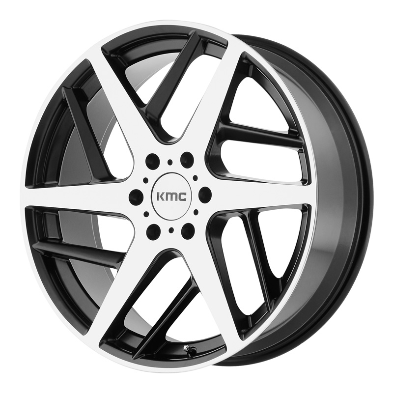KMC KM699 Satin Black w/Machined Face 22x9 6x135.00 35