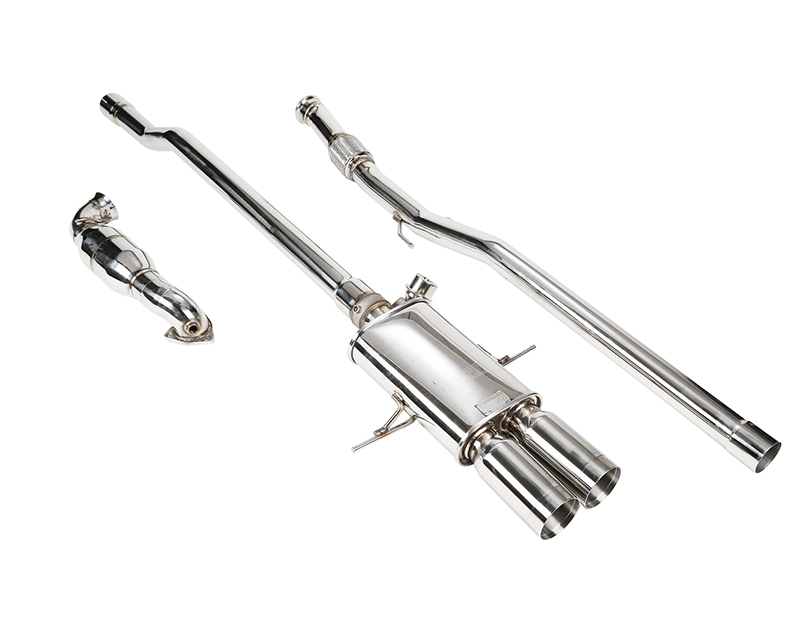 IPE Stainless Steel Valvetronic Exhaust System with Remote and Dual Polished Tips Mini Cooper S R56 | R57 07-13 - MI002