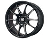 Konig Illusion 15X6.5  4x100  38mm Black/ Ball Machined Cut Spoke