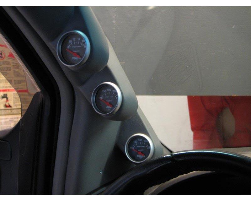 Lotek Triple A-Pillar Pod Toyota 4Runner & Tacoma 84-89 - LTK-4RNR8489-3PLR
