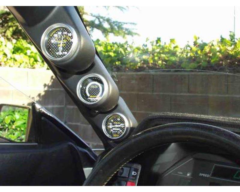 Lotek Triple A-Pillar Pod Nissan 300ZX 84-89 - LTK-300ZX8489-3PLR