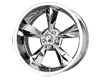 MB Wheels Old School 17X8  5x114.3  0mm   Chrome