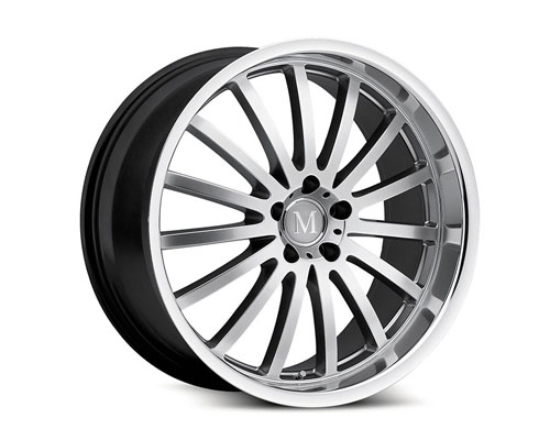 Mandrus Millenium 19X8.5  5x112  25mm Hyper Silver Machined Lip - MA-1985MAM255112S66