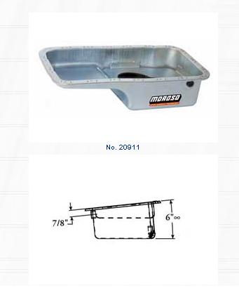 Moroso Steel Wet Sump Stock Replacement Oil Pan Honda Civic 1.6L 99-00 - 20911