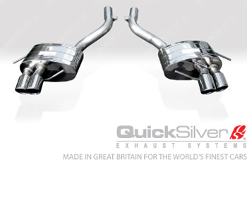 Quicksilver Sport Stainless Steel Rear Silencers Maserati GranTurismo S 4.7L 08-17 - MT230S