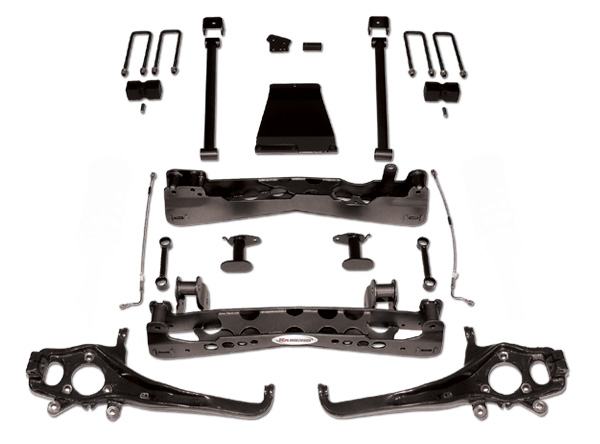 Rancho Suspension System 4in-2.5in Lift Black Finish Nissan Titan 5.6L 04-07 - RS6594B