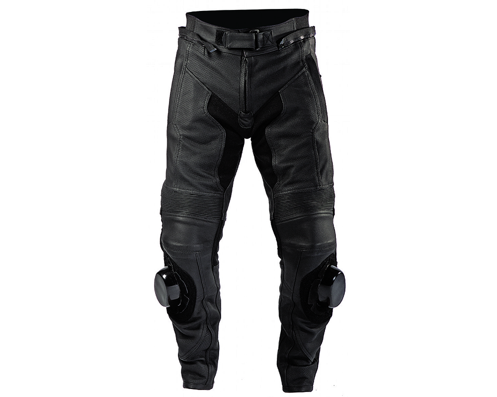 Motonation Apparel Leather Pants Revolver Perforated Leather Sport Pant (Black - 30) - MNS-PRP-BKBK-30