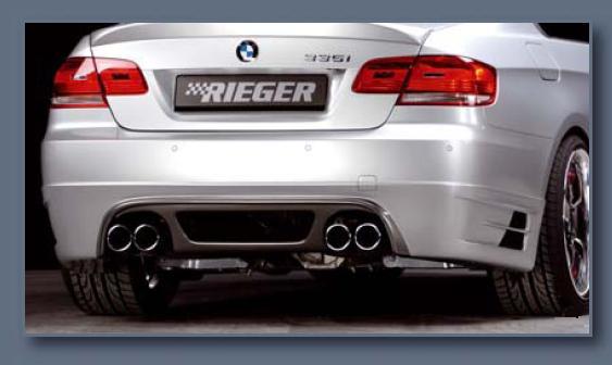 Rieger Carbon Look Rear Skirt w/ Mesh BMW E92 & E93 335i 07-11 - R 99568