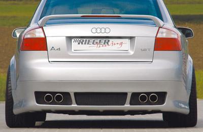 Rieger Rear Apron Diffuser w/ Mesh Audi A4 B6 Type 8E Sedan US Spec 02-05 - R 55214