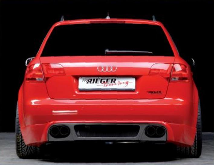 Rieger Carbon Look Rear Apron Diffuser Audi A4 B7 Type 8E 05-08 - R 99025