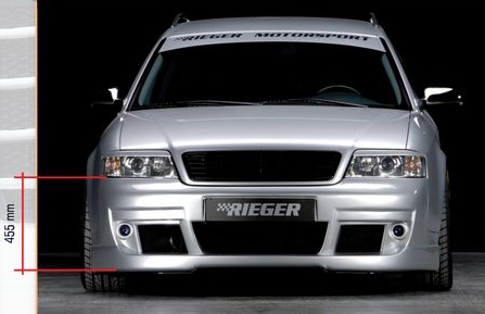 Rieger Front Bumper w/ Washers Audi A6 C5 4B 02-04 - R 55313