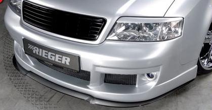 Rieger Carbon Look DTM Front Splitter for Front Bumper Audi A6 C5 4B 98-04 - R 99001