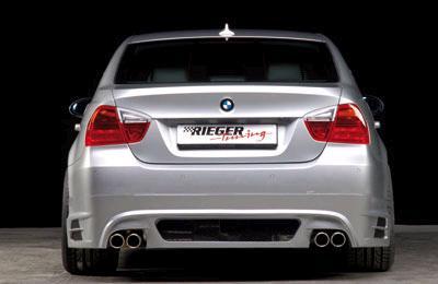 Rieger Carbon Look Rear Apron Diffuser w/ Mesh BMW E90 Sedan 06-08 - R 99550