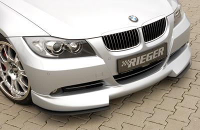 Rieger Front Carbon Look DTM Two Part Splitter for Lip BMW E90 Sedan 06-08 - R 99554