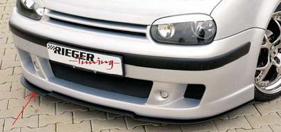 Rieger DTM Splitter for Cabrio R-RS Front Spoiler Volkswagen Golf IV 99-05 - R 59021