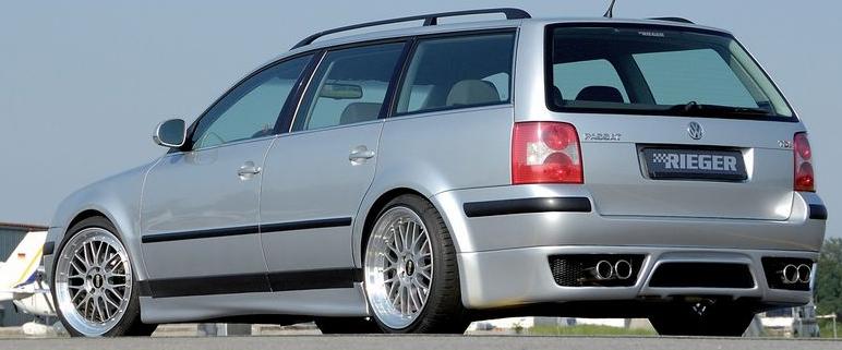 Rieger Rear Apron Diffuser Volkswagen Passat 3BG Variant 00-05 - R 24036