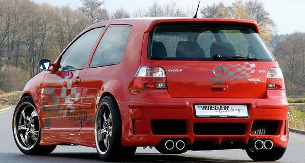 Rieger Carbon Look Rear Diffuser for RS4 Look Rear Bumpers Volkswagen Golf IV 99-05 - R 99710