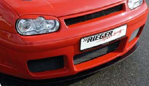 Rieger Carbon Look DTM Straight Splitter for RS4 Look Front Bumper Volkswagen Golf IV 99-05 - R 99725