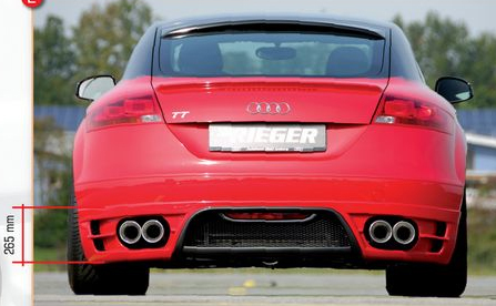 Rieger Rear Skirt w/ Intakes for Dual Tips Audi TT 8J 07-12 - R 55156