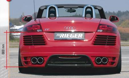 Rieger Rear Bumper w/ Gills Audi TT 8J 07-12 - R 55157