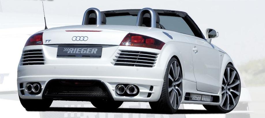 Rieger Carbon Look Rear Bumper w/ Gills Audi TT 8J 07-12 - R 99051
