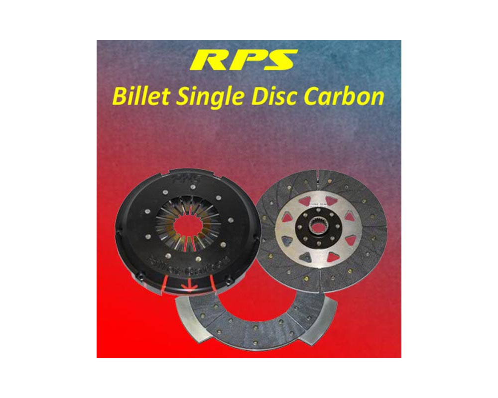 RPS Billet Strapless Single Push Carbon Clutch with Aluminum Fly Mitsubishi EVO VII VIII IX 01-07 - BC1PK-16001-AL-Push