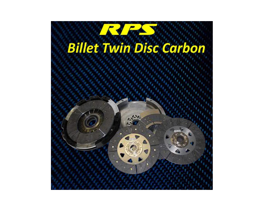 RPS 22lbs Billet Strapless Twin Disk Carbon Clutch with Steel Fly BMW E36 M3 94-99 - BC2PK-03E36-S