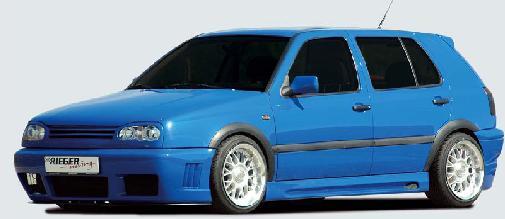 Rieger RS4 Front Bumper w/ Gills Volkswagen Golf III 93-99 - R 42035