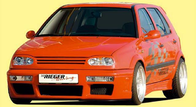 Rieger DTM Splitter for RS4 Front Bumper Volkswagen Golf III 93-99 - R 42034