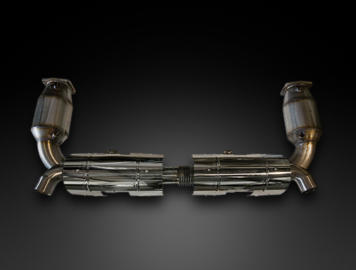 RSC Tuning VeloceSport Exhaust System with 200 Cell Cats Porsche 997 TT 07-09 - RSC97R0S